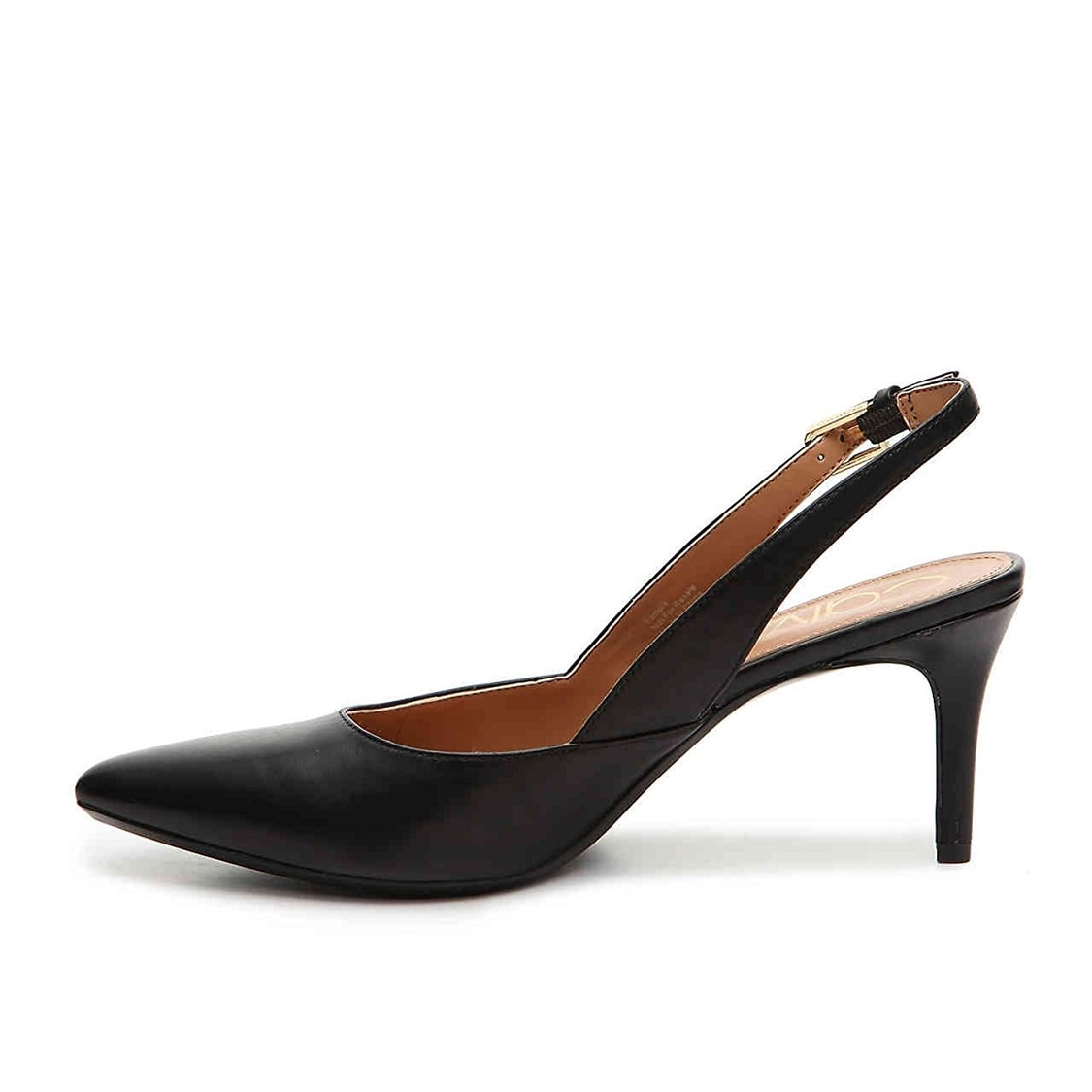 2b06dc8ad54 Shop Calvin Klein Womens Giona Leather Pointed Toe SlingBack Classic Pumps  - Free Shipping Today - Overstock - 22254170