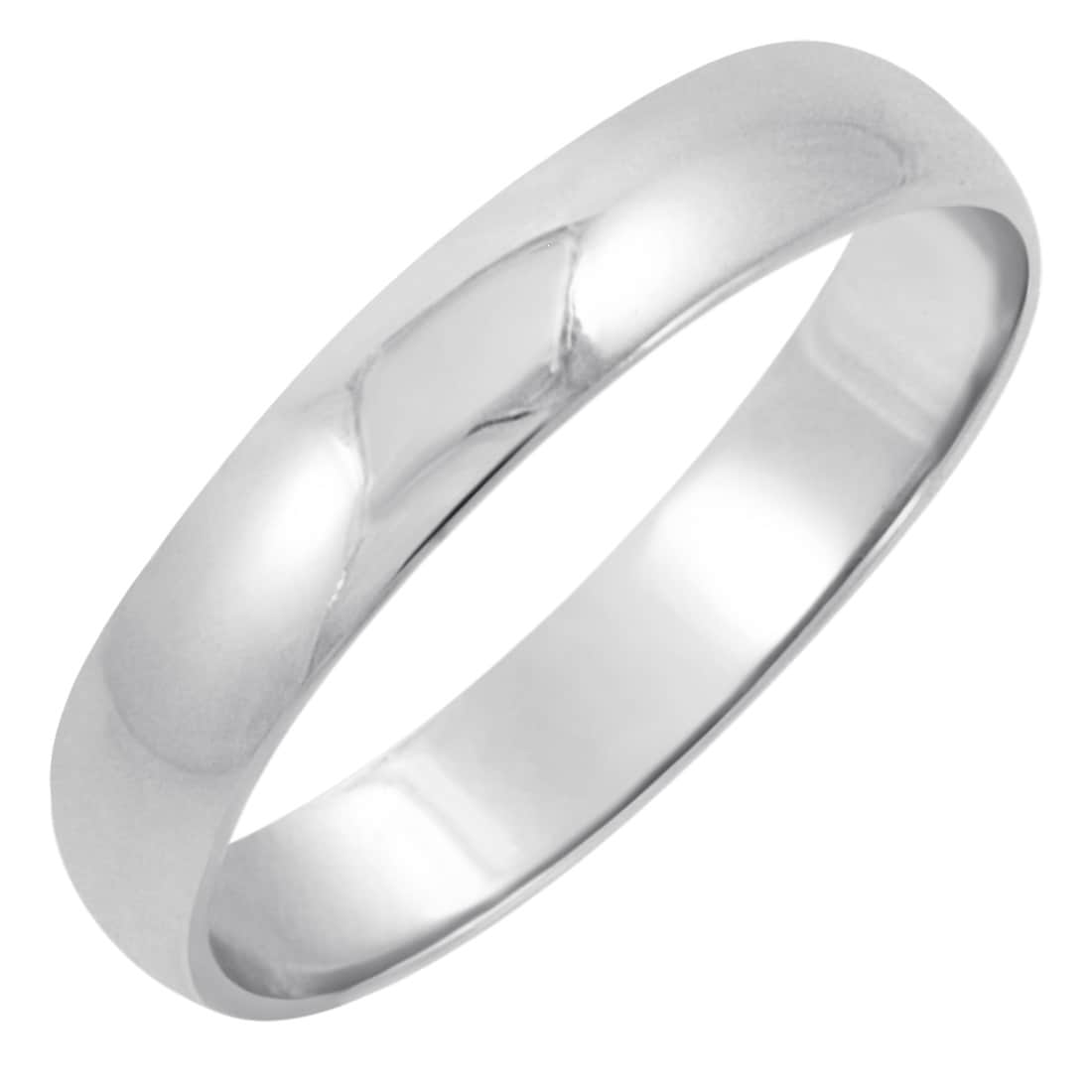 Shop Mens 10k White Gold 4mm Traditional Plain Wedding Band Available Ring Sizes  2 On Sale Free Shipping Today Overstock Com 14199901