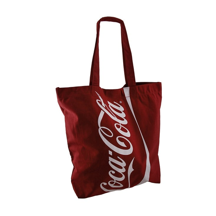 6f746c91a85a Officially Licensed Large Red Coca-Cola Logo Canvas Tote Bag