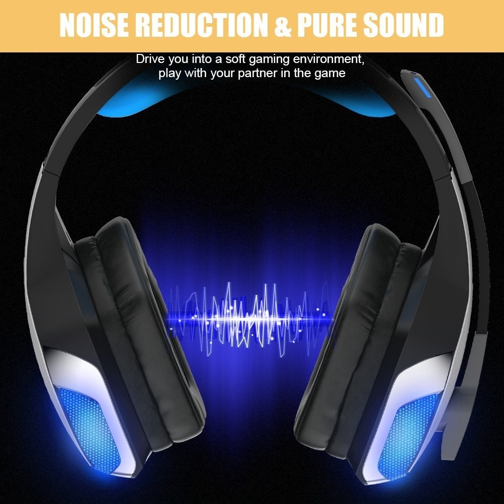 Hunterspider V4 Gaming Headset for PS4, Xbox One, PC, Controller, Noise  Cancelling
