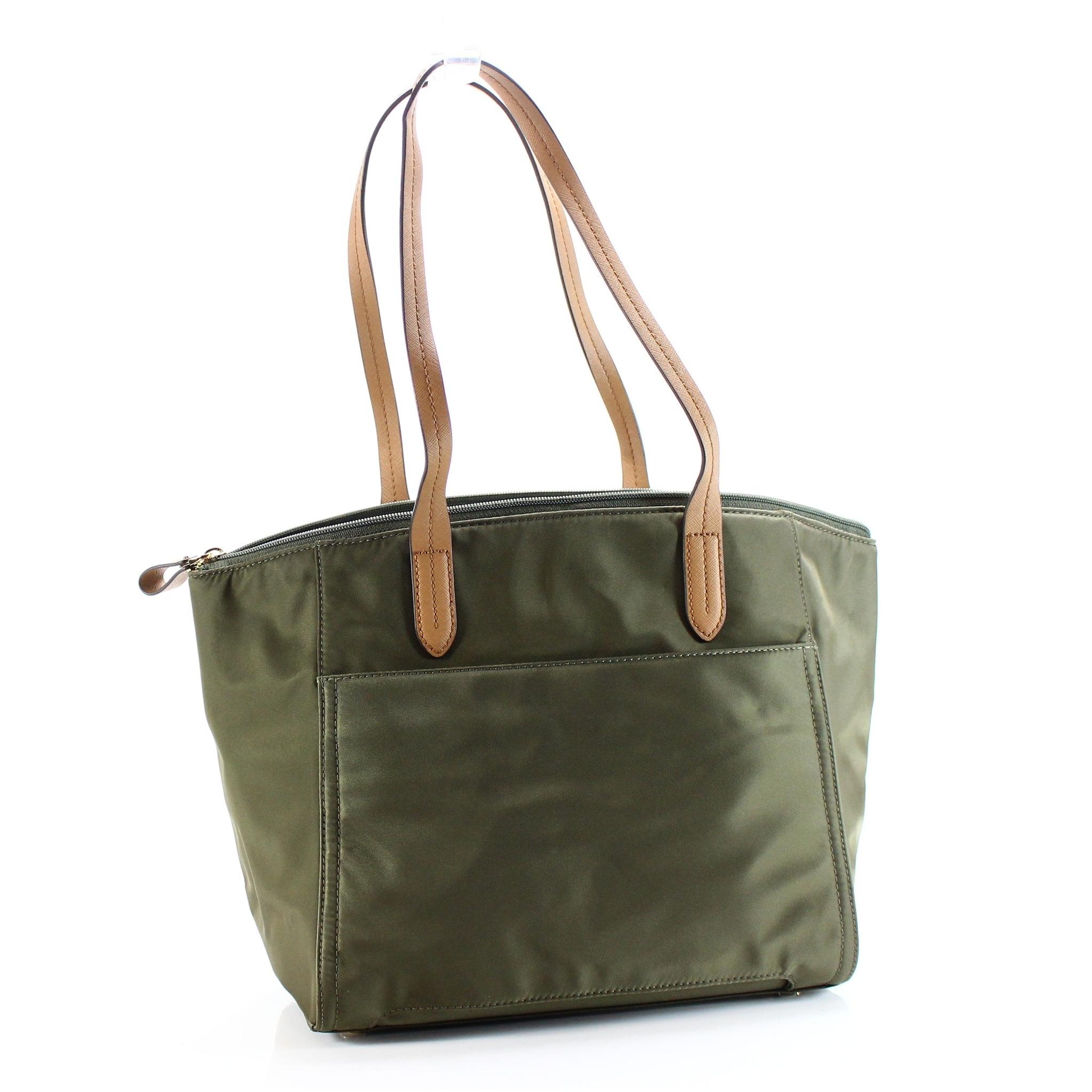 ead06c9ce909 Shop Michael Kors NEW Kelsey Olive Green Medium Top-Zip Tote Handbag ...