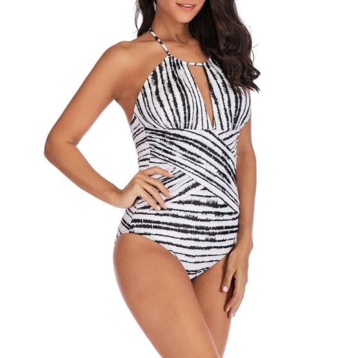 fa3bb0a5b478b Shop One Piece Swimsuits for Women Slimming Monokini Tummy Control Swimwear  Plus Size Bathing Suits V Neckline Halter - On Sale - Free Shipping On  Orders ...