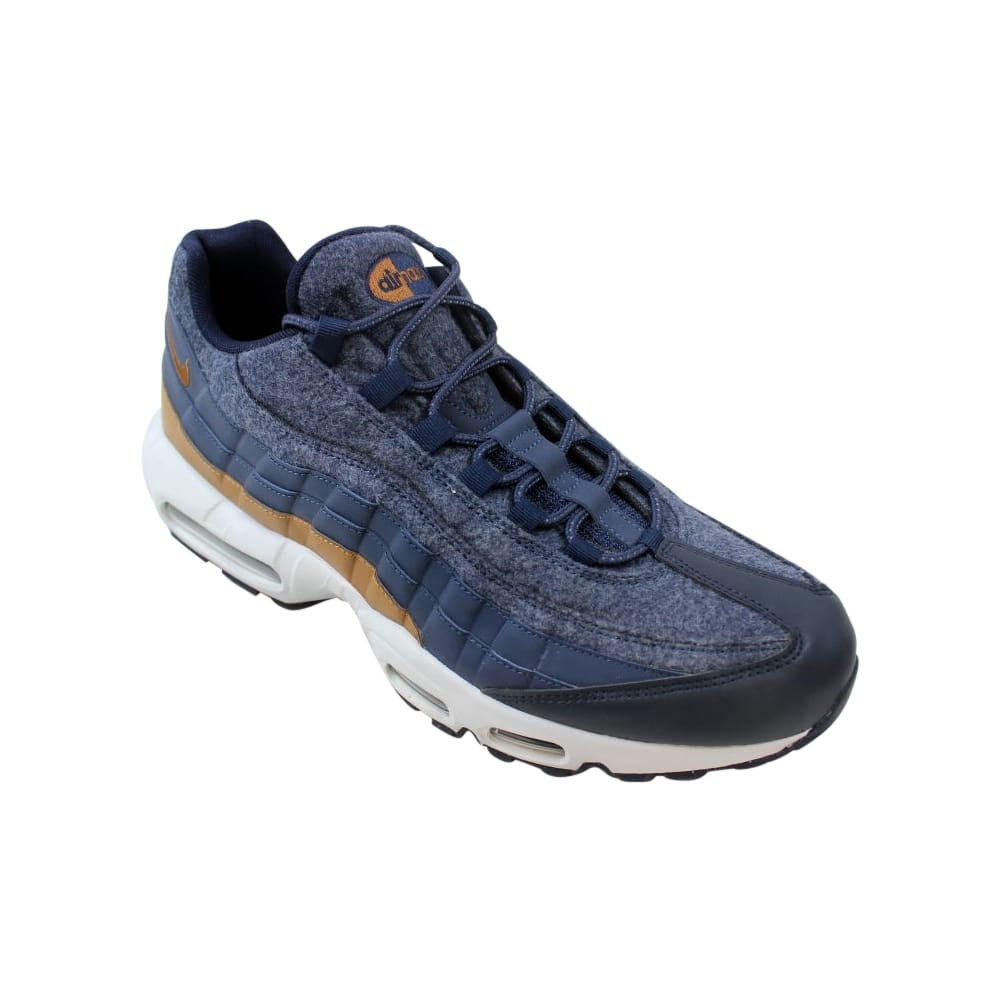 huge selection of 8dc3b 54df9 Shop Nike Air Max 95 Premium Thunder Blue Ale Brown 538416-403 Men s - Free  Shipping Today - Overstock - 27731269