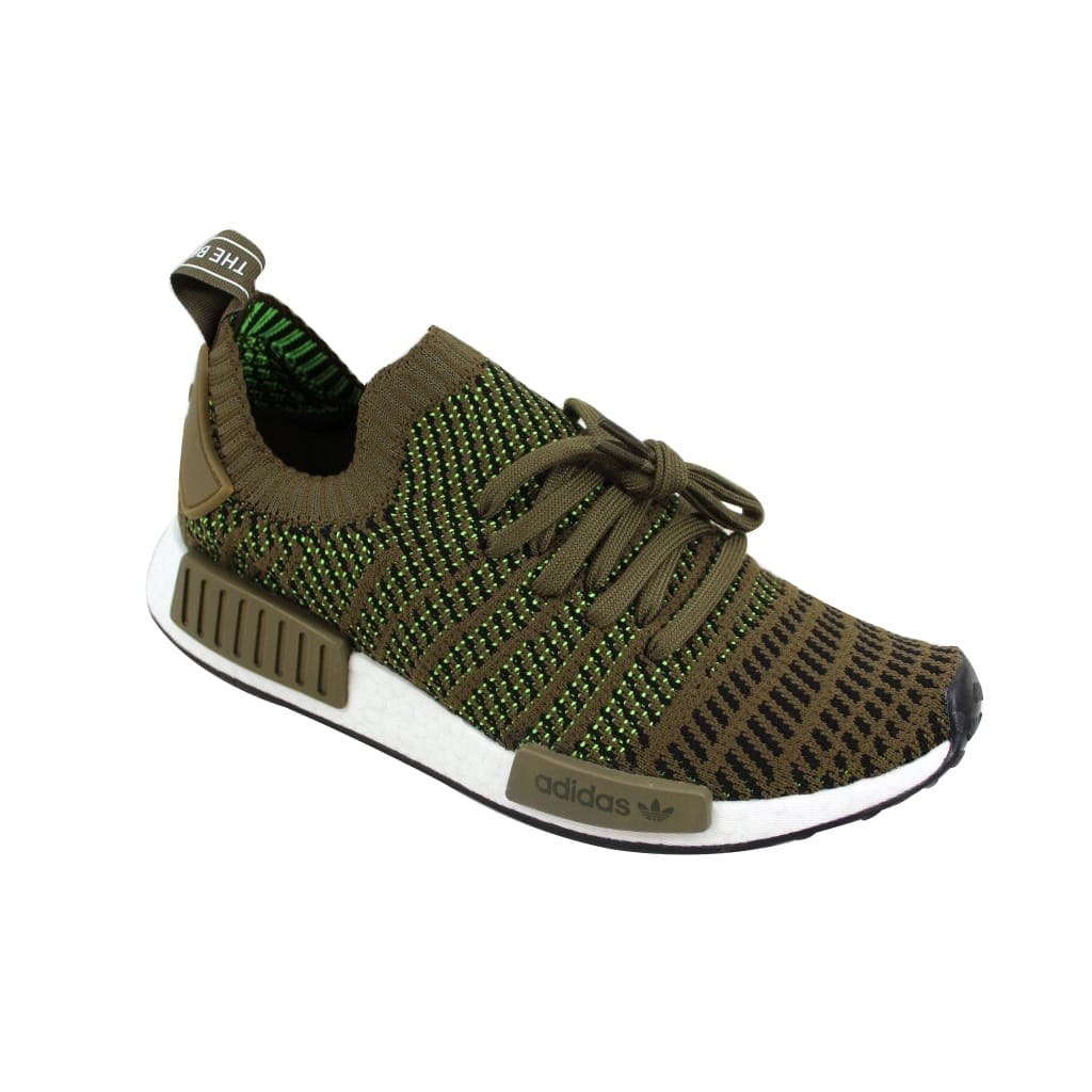 new product 79e52 7daa8 Shop Adidas Men s NMD R1 STLT PK Trace Olive Black-Solar Slime CQ2389 -  Free Shipping Today - Overstock - 23436862