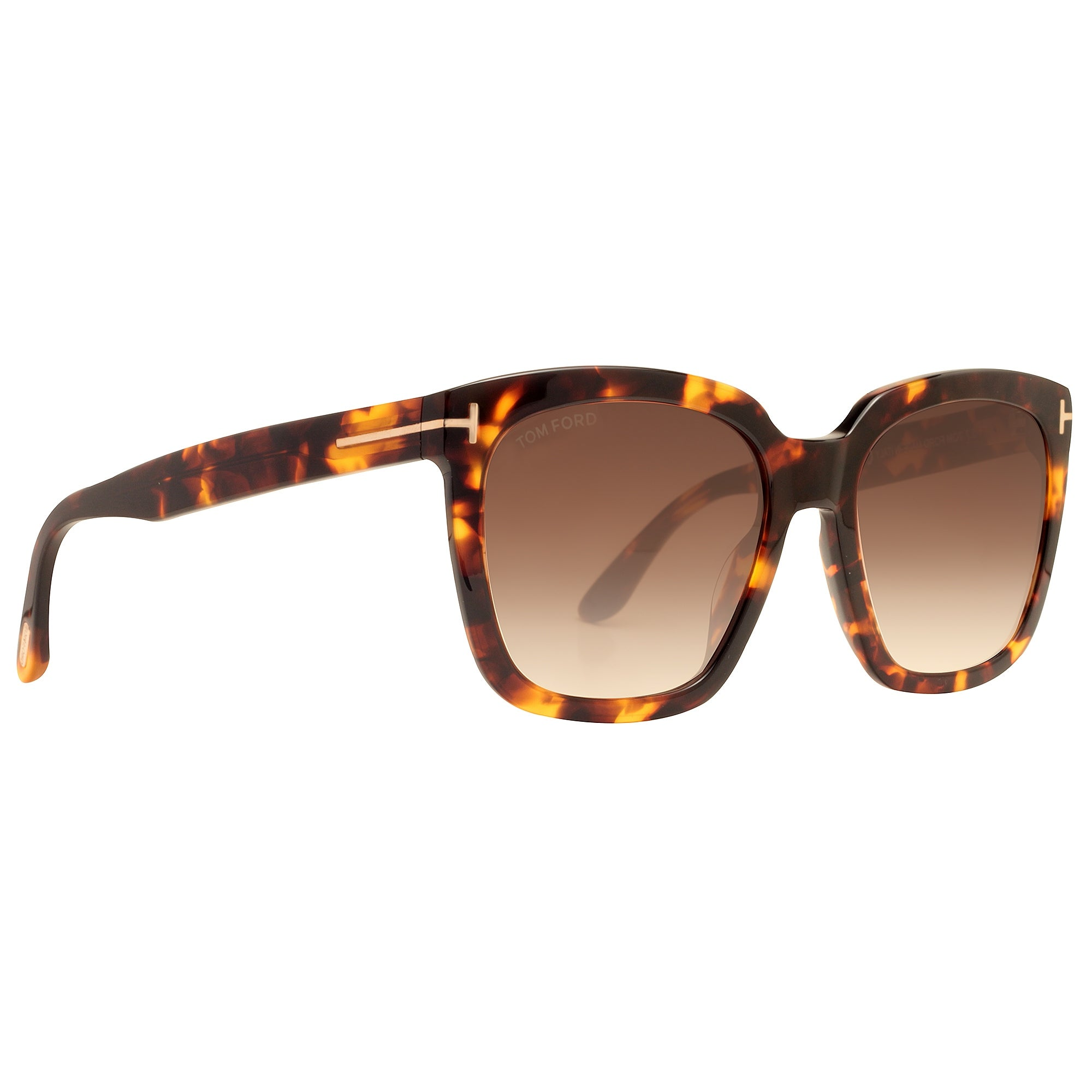 a474fa14f3 Shop Tom Ford Amarra TF 502 52F 55mm Havana Brown Gradient Women s Square  Sunglasses - dark havana brown - 55mm-18mm-140mm - Ships To Canada -  Overstock.ca ...