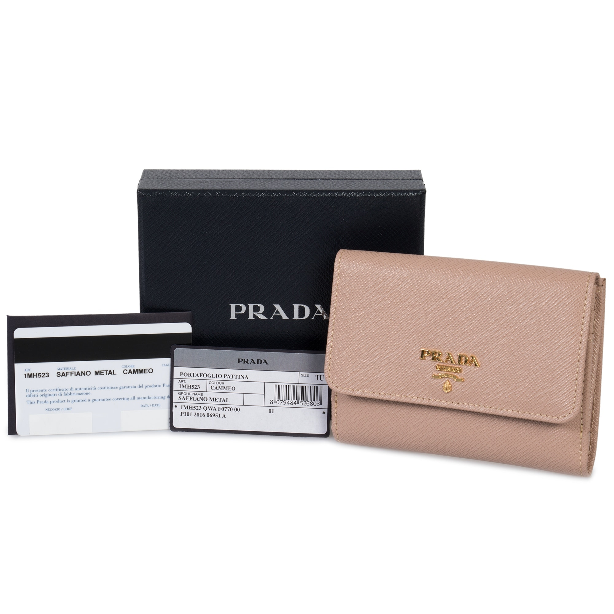 53efd9454067 ... italy shop prada cameo saffiano leather flap wallet 1mh523 qwa f0770  free shipping today overstock 23084016