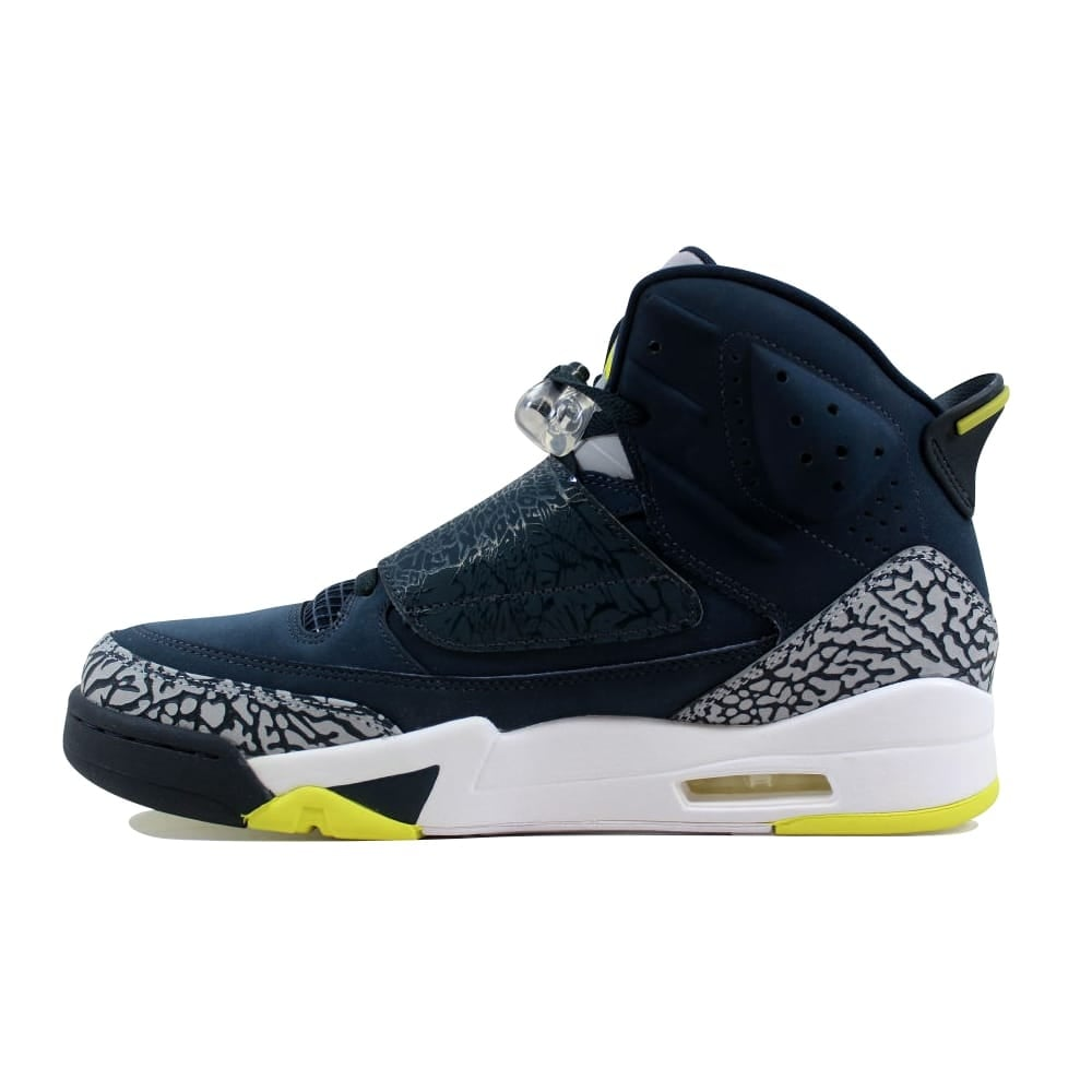 Shop Nike Men s Air Jordan Son Of Mars Armory Navy Electrolime-White 512245- 405 - Free Shipping Today - Overstock - 27339293 b30cae6b6