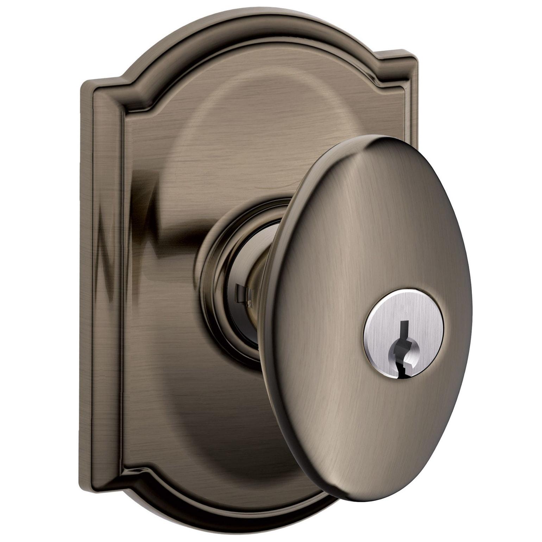 Shop Schlage F51a Sie Cam Siena Single Cylinder Keyed Entry Door