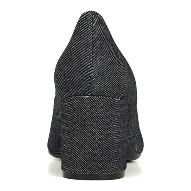 dc75519c30d9 Shop Naturalizer Women s Wright Block Heel Pump Dark Blue Denim Fabric -  Free Shipping Today - Overstock - 25600336