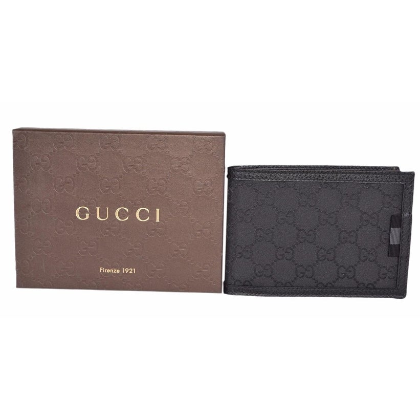 68c957606738 Shop Gucci Men's 292534 Black Nylon GG Guccissima Web W/Coin Large Bifold  Wallet - Free Shipping Today - Overstock - 18226706