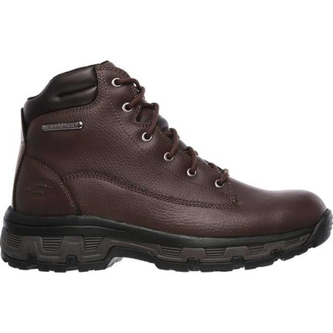 12a58e2c99b30 Shop Skechers Men's Relaxed Fit Morson Sinatro Hiking Boot Dark Brown -  Free Shipping Today - Overstock - 19474273