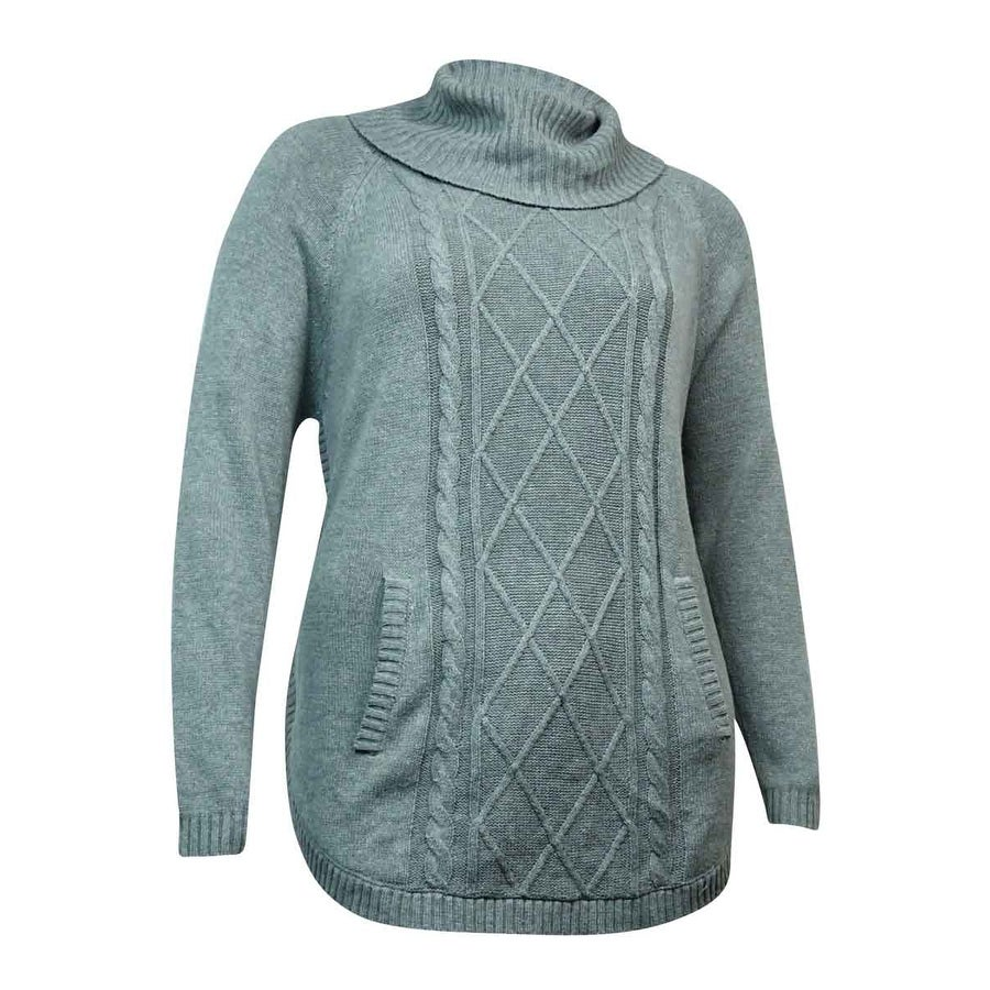 Shop Charter Club Women\'s Cowl Lattice Cable Sweater - On Sale ...