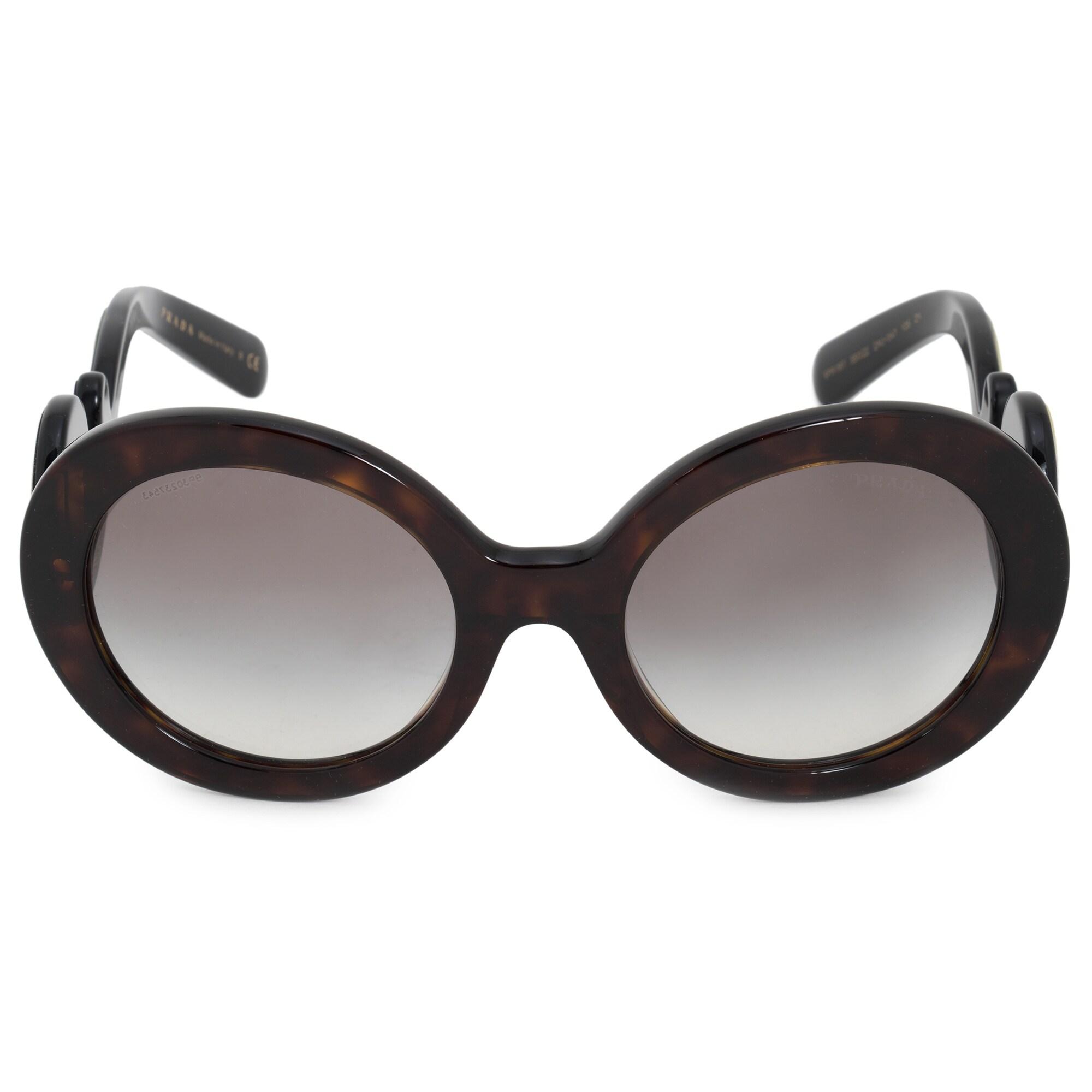 8d2b8bdfd8df Shop Prada Minimal Baroque Round Sunglasses PR08TS 2AU0A7 55 - Free ...
