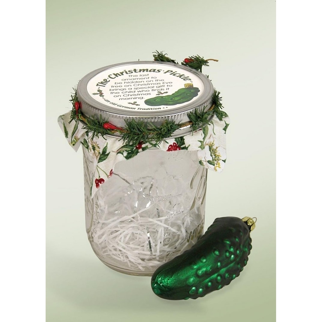 5 the famous german christmas pickle in glass jar holiday christmas ornament free shipping on orders over 45 overstock 22880579