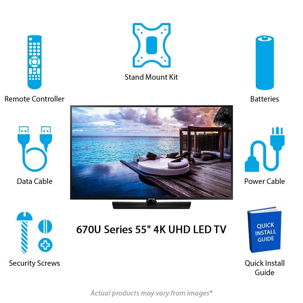 Samsung 670U Series 55-inch Hospitality TV 55-inch 4K UHD Hospitality TV