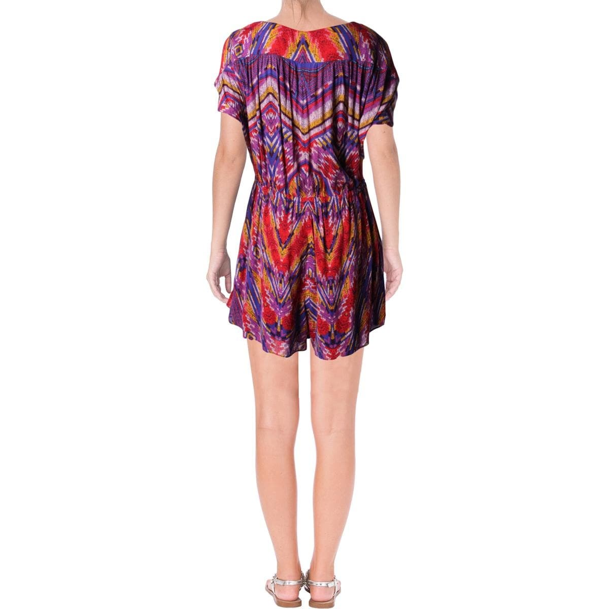 2fddcd147ed1 Shop Free People Womens Dream All Night Romper Printed Button Down - Free  Shipping On Orders Over  45 - Overstock - 22489968