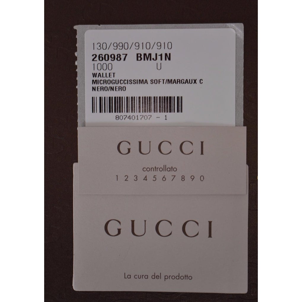 1d2b700b014 Shop Gucci Men s 260987 Black Leather MICRO GG Guccissima Bifold Wallet -  Free Shipping Today - Overstock - 13342425