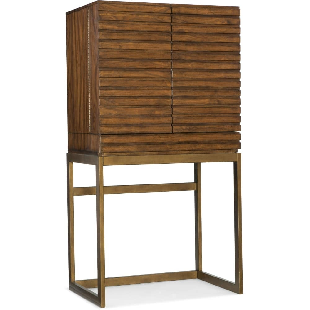 Shop hooker furniture 5453 50001 mwd 34 wide rubberwood bar cabinet from the bigsur collection rustic walnut n a free shipping today overstock com