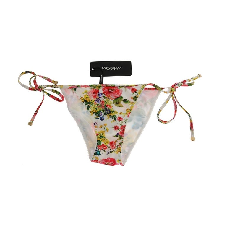 0cf2d7b304 Shop Dolce   Gabbana Multicolor Floral Print Bikini Bottom - it3-m - Free  Shipping Today - Overstock - 24545805