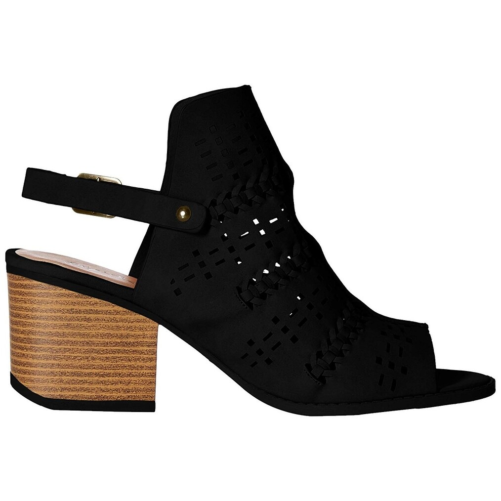 b95665b8fa05 Shop Qupid Women s Wood Heeled Sandal - Free Shipping On Orders Over  45 -  Overstock - 26059553