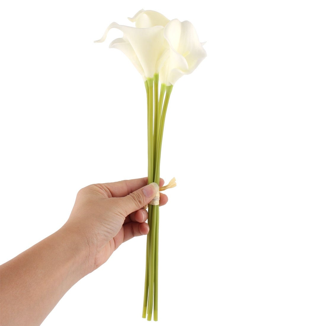 Home wedding office party decor calla lily artificial flower bouquet home wedding office party decor calla lily artificial flower bouquet white 5 pcs free shipping on orders over 45 overstock 24520104 izmirmasajfo