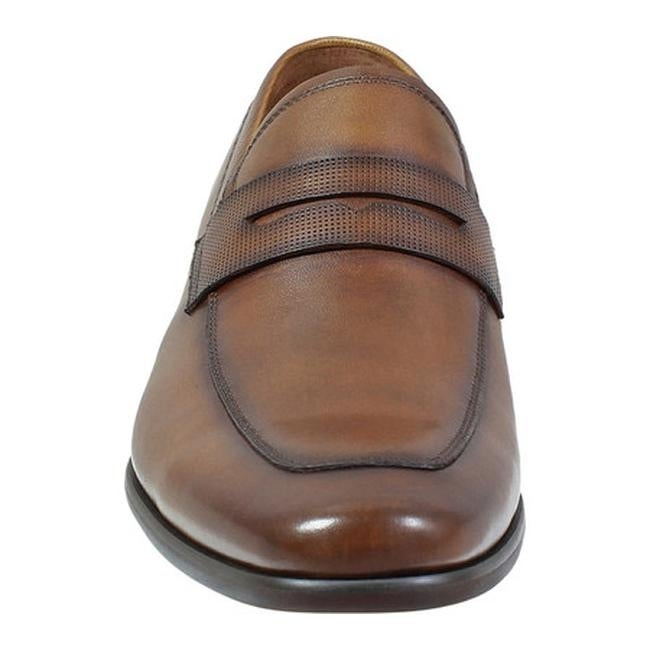 87a7c2bfd0a Shop Florsheim Men s Postino Moc Toe Penny Loafer Cognac Smooth  Leather Perf - Free Shipping Today - Overstock - 19452058