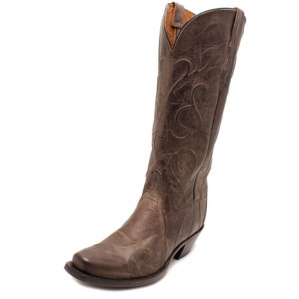 c404e9b2e87 Lucchese Patsy Women Round Toe Leather Gray Western Boot