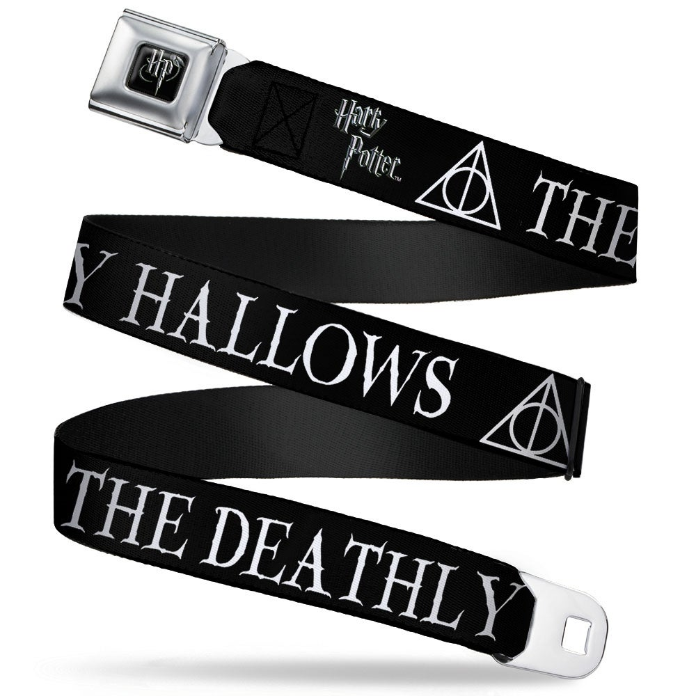 Harry potter logo full color black white the deathly hallows harry potter logo full color black white the deathly hallows symbol black seatbelt belt free shipping on orders over 45 overstock 23352618 biocorpaavc Images