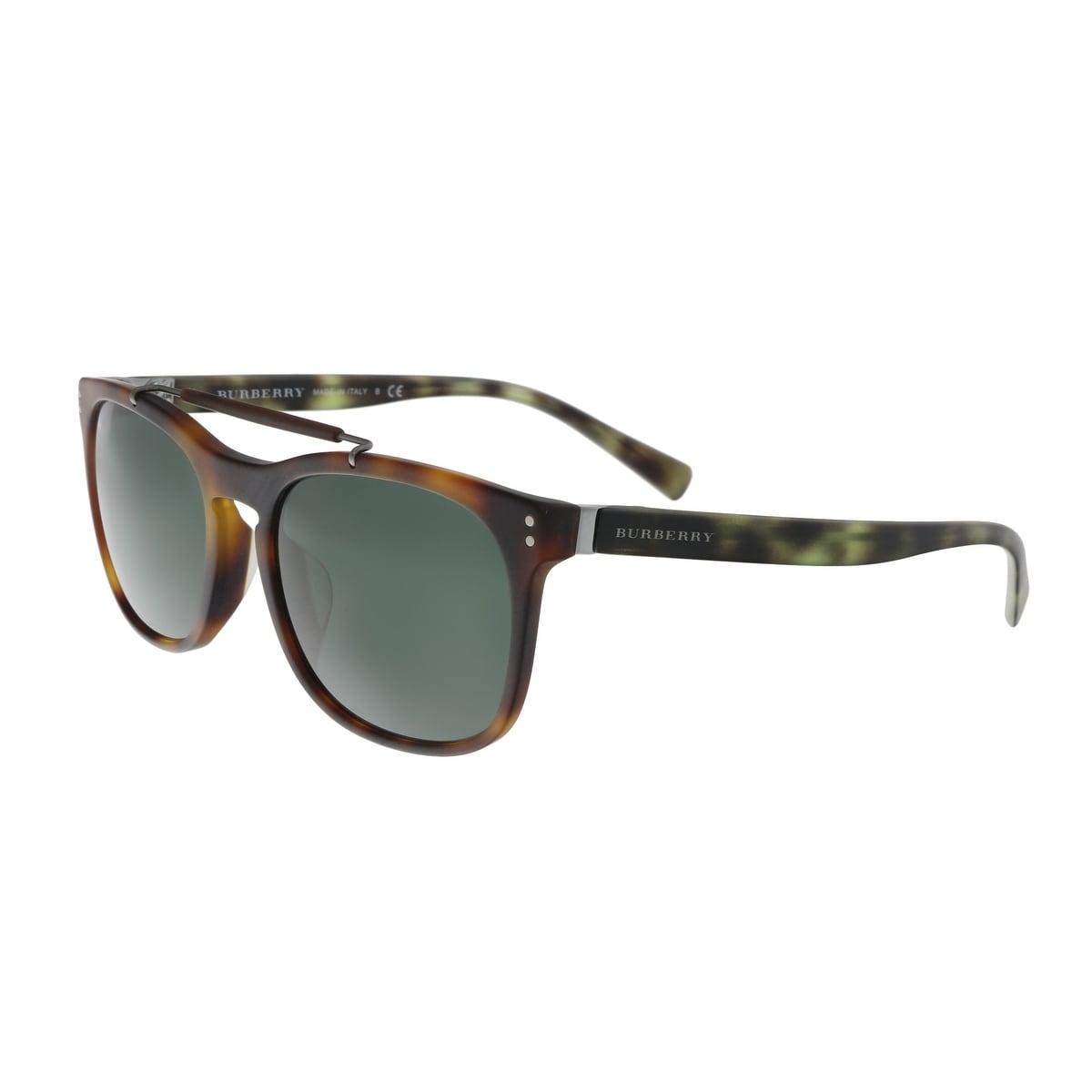 7a0410739c7e0 Burberry BE4244F 362271 Matte Light Havana Rectangular Sunglasses - no size