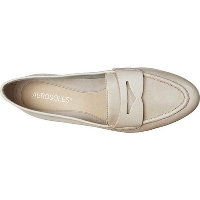 bbaec98f995 Shop Aerosoles Women s Map Out Penny Loafer Bone Leather - Free Shipping  Today - Overstock.com - 22879162