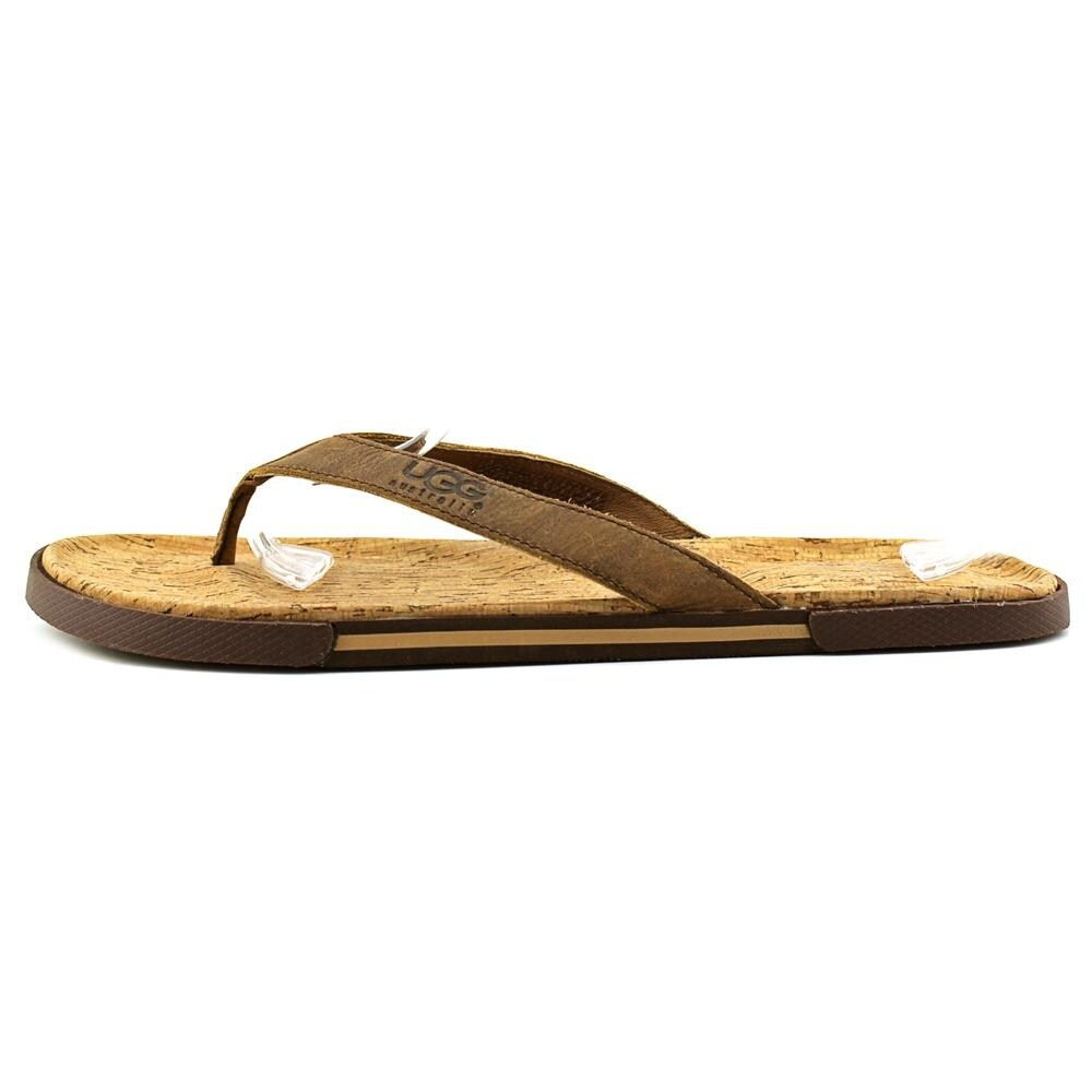 310a4674dc92 Ugg Australia Bennison II Men Open Toe Leather Brown Flip Flop Sandal -  Free Shipping On Orders Over  45 - Overstock - 22809056