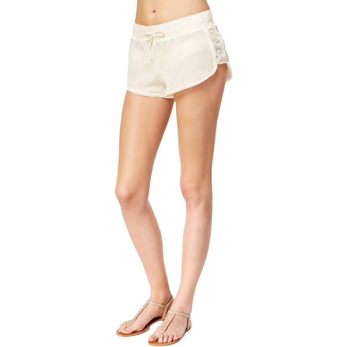 2cecb3ffcd02a Shop Roxy Womens Gauze Crochet Trim Shorts Swim Cover-Up - XL - Free  Shipping On Orders Over $45 - Overstock - 17269638