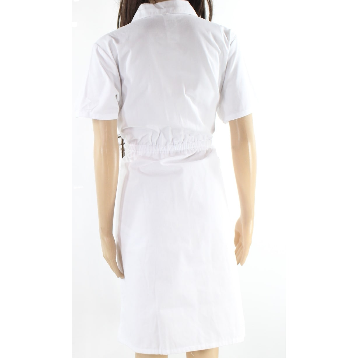 7f9dee9daab Shop Dickies White Women's Size Small S Button Down Scrub Shirt Dress -  Free Shipping On Orders Over $45 - Overstock - 26926901