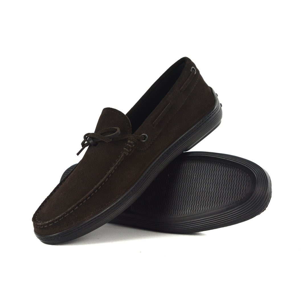 662bdcca57f Tod's Men's Brown Suede Black Sole Front Tie Moccasins Loafers IT6/US7  RTL$695