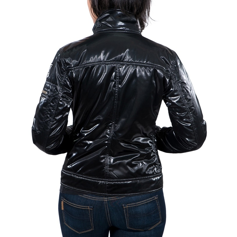 Shop Williams Wilson Aureka Nero Black Padded Women s Cropped Jacket - On  Sale - Free Shipping On Orders Over  45 - Overstock - 14407406 b66fc4c7d