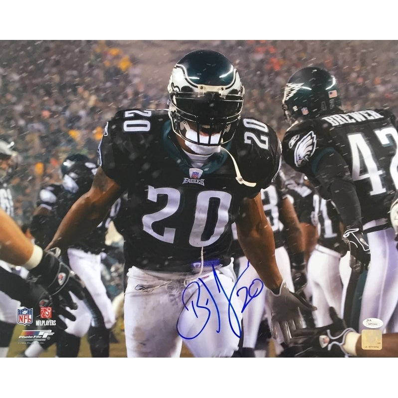 low priced 28373 2d499 Brian Dawkins Signed 16x20 Philadelphia Eagles Black Jersey Photo JSA