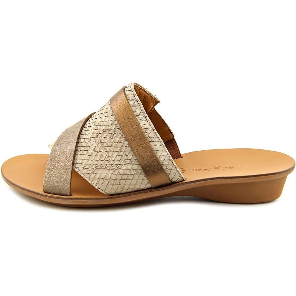 shop paul green bayside women open toe leather gray slides sandal