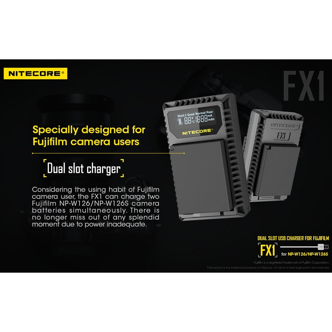 Shop Nitecore Fx1 Digital Usb Battery Charger For Fujifilm Np W126 Fuji Free Shipping On Orders Over 45 22887868