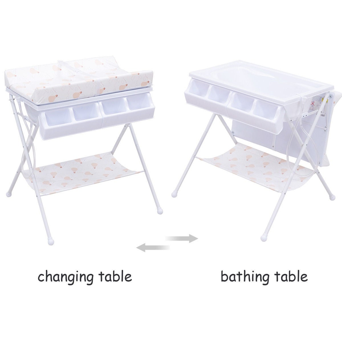 Shop Costway Infant Baby Bath Changing Table Diaper Station Nursery  Organizer Storage W Tube   Free Shipping Today   Overstock.com   18962707