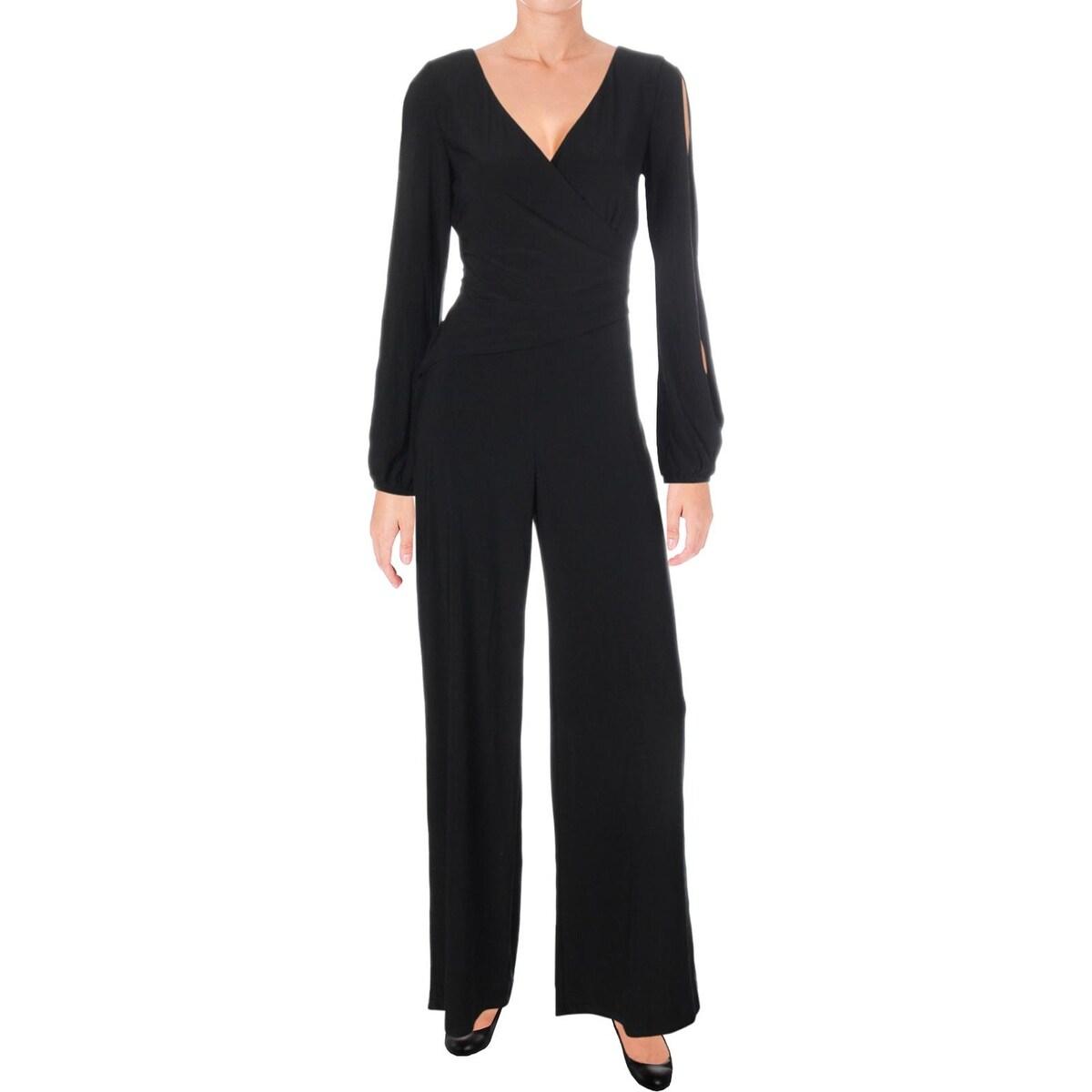 9bb8806aae7 Shop Lauren Ralph Lauren Womens Gustana Jumpsuit Blouson Surplic - On Sale  - Free Shipping On Orders Over  45 - Overstock - 25859082