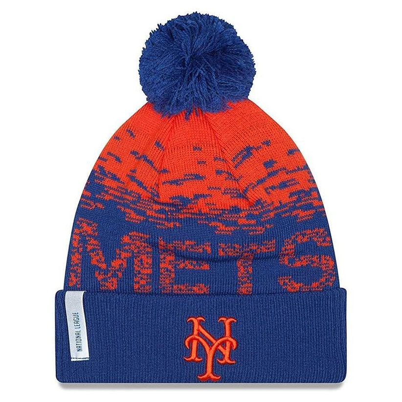 71dcf246f5e Shop New Era New York Mets MLB On Field Sports Knit Stocking Beanie  11212435 - Free Shipping On Orders Over  45 - Overstock - 19449531
