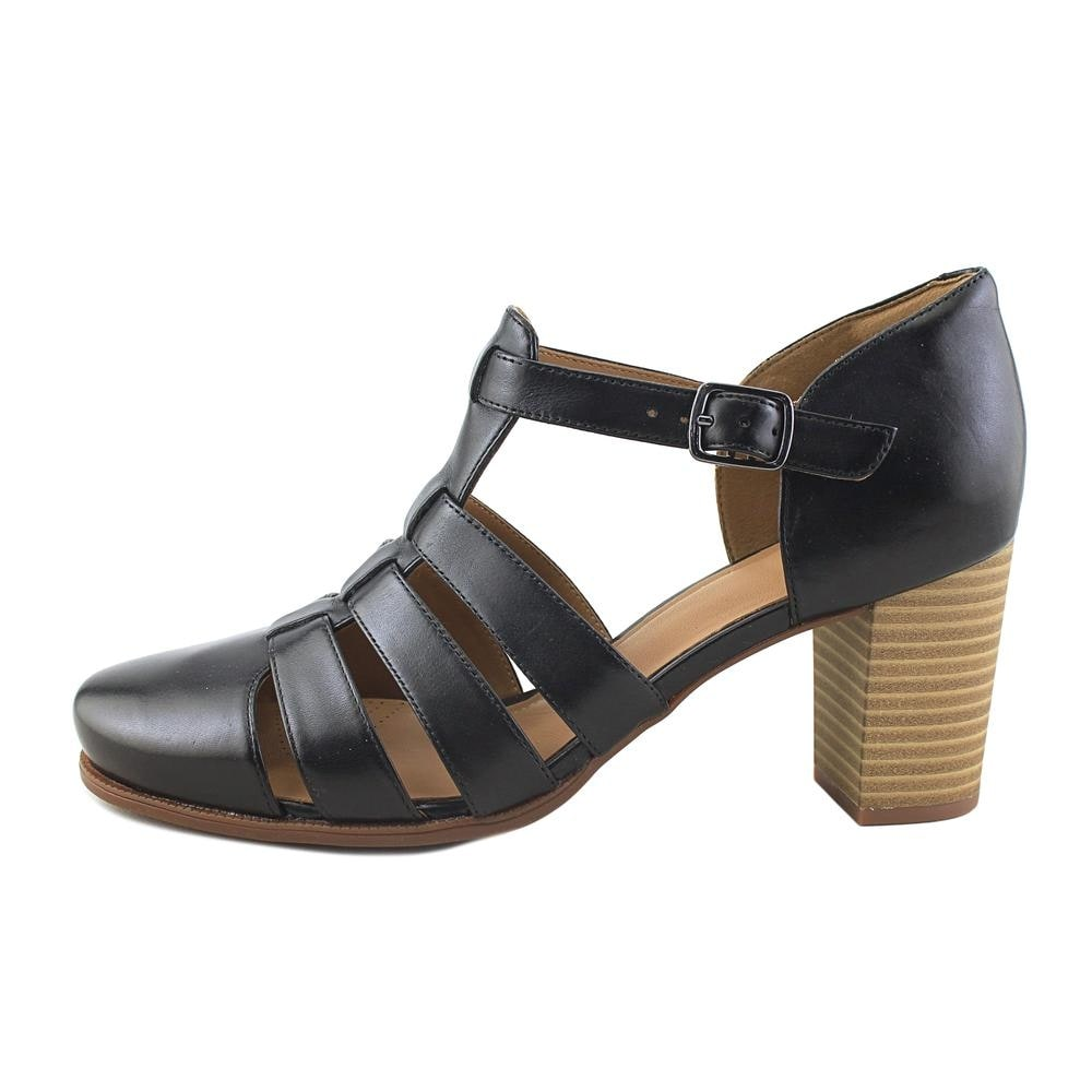 78ae6f63166b Shop Clarks Ciera Gull Women Open Toe Leather Black Sandals - Free Shipping  Today - Overstock - 19563744