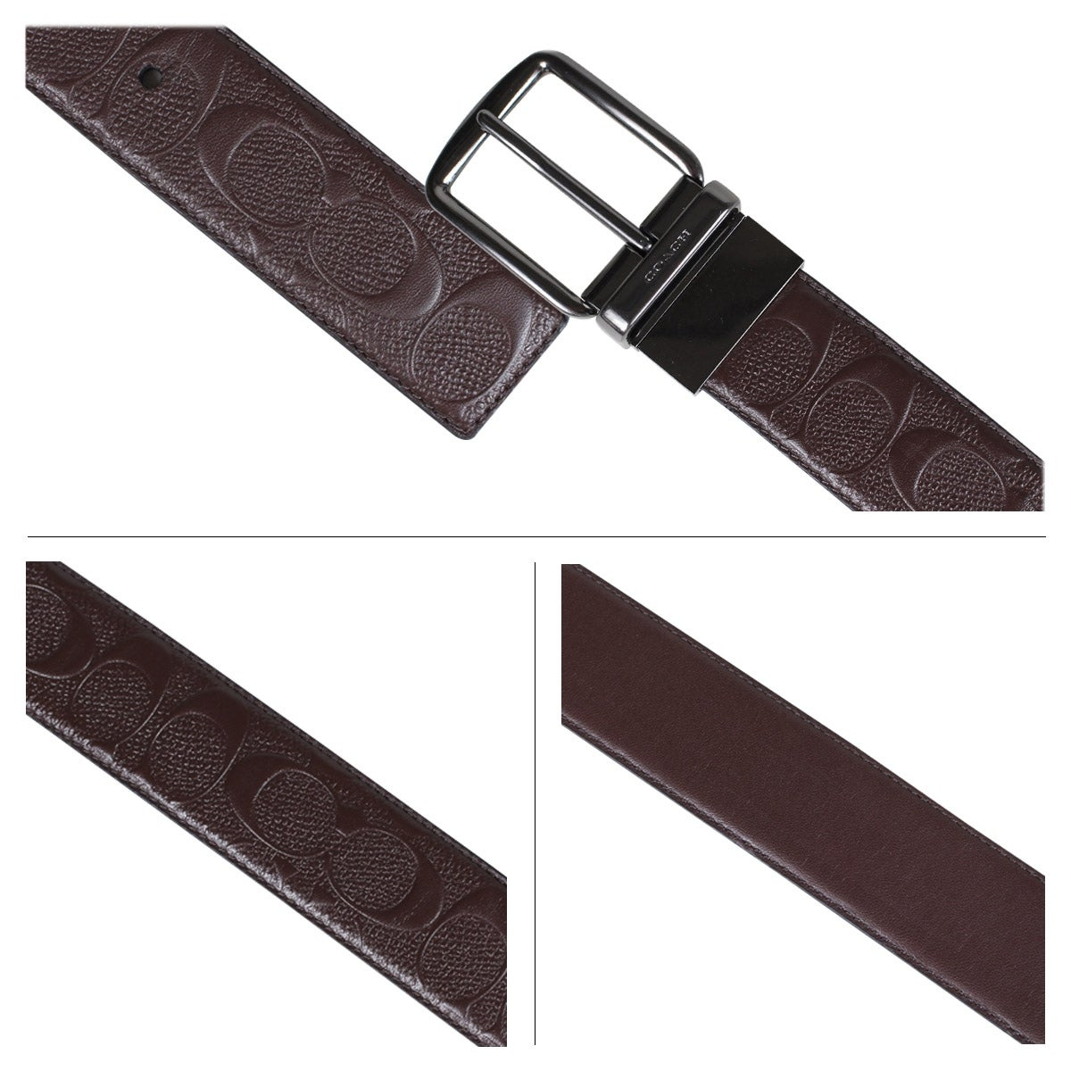 71f0c71ad05 Shop Coach Wide Harness Cut To Size Signature Leather Reversible Belt