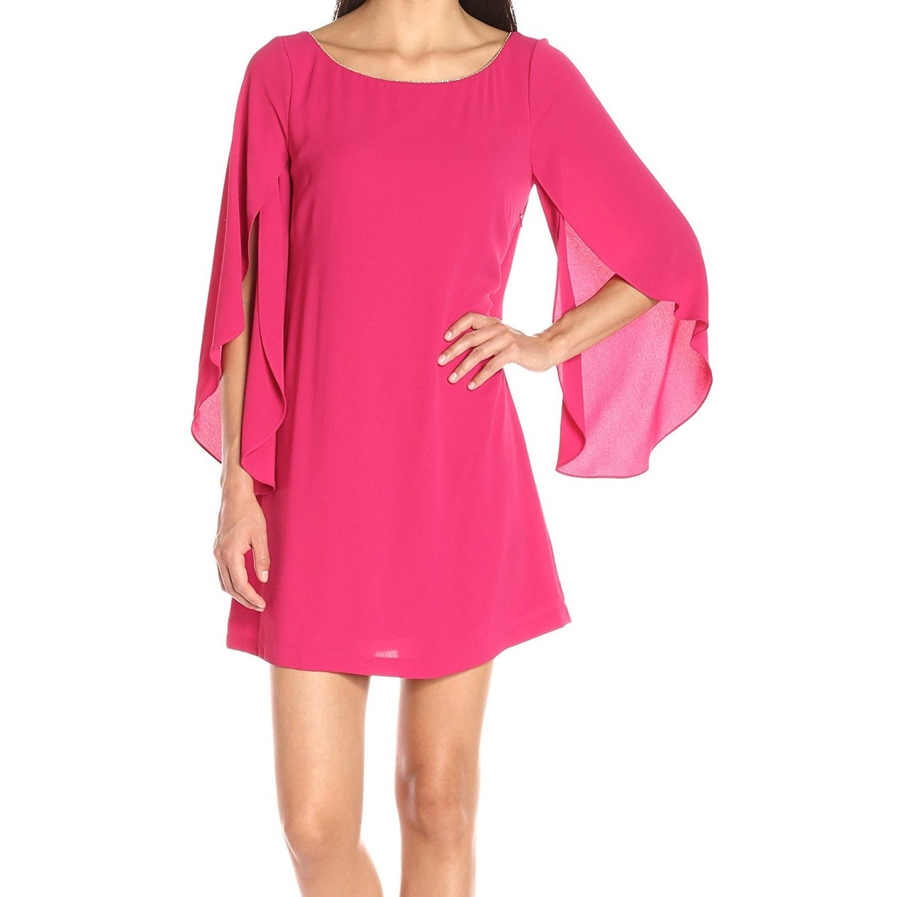 Shop Jessica Simpson NEW Hot Pink Womens Size 4 Long-Sleeve Shift ...