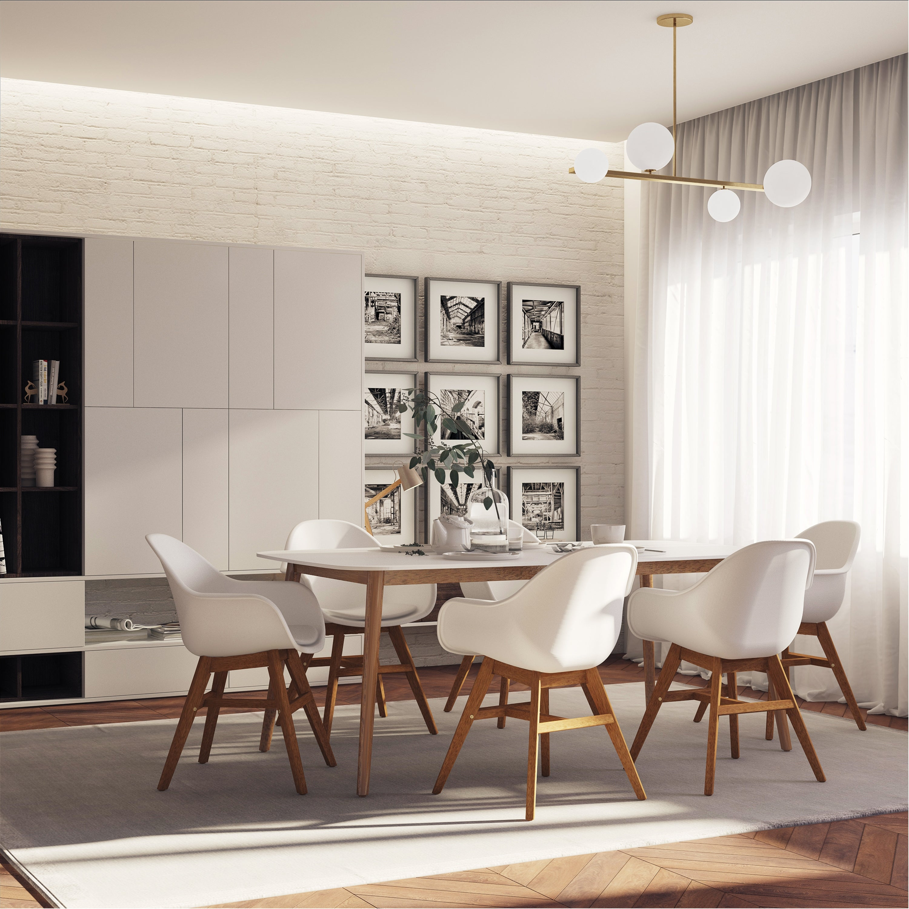 Midtown Concept Nordic 7 Piece Dining Set With Cushions Overstock 31301333