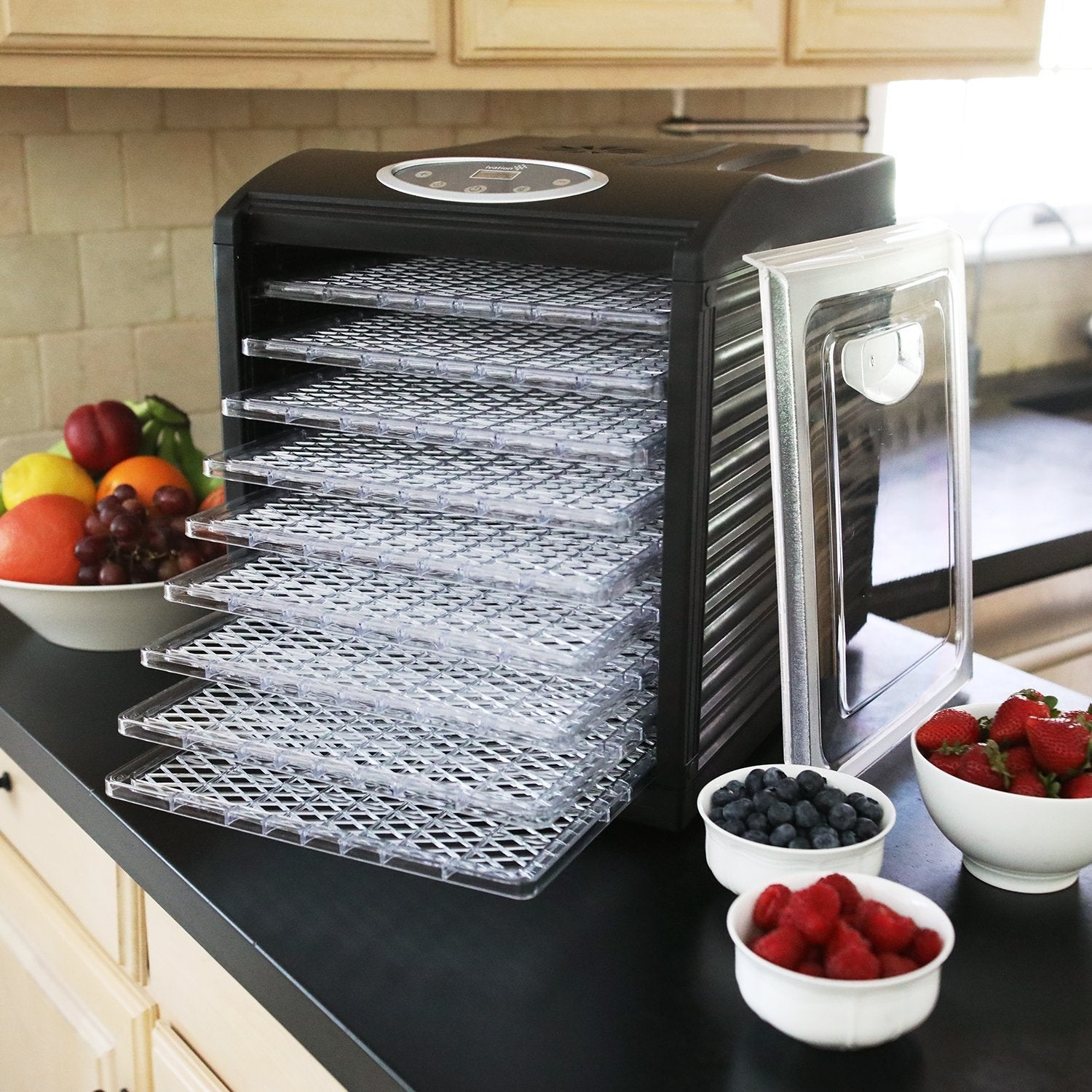 Ivation 600w Electric Food Dehydrator Pro with 9 Drying Trays and ...