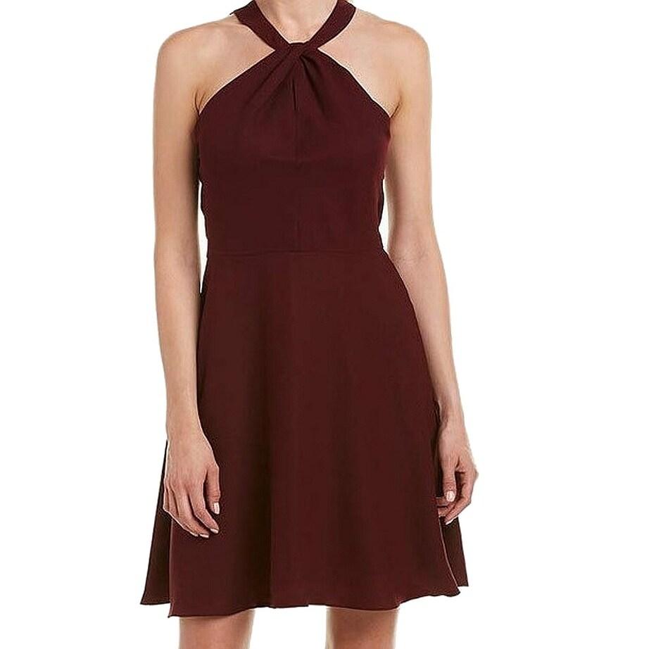 975ede93 Shop CeCe Red Wine Womens Size 12 Fit N Flare Halter Sheath Dress ...