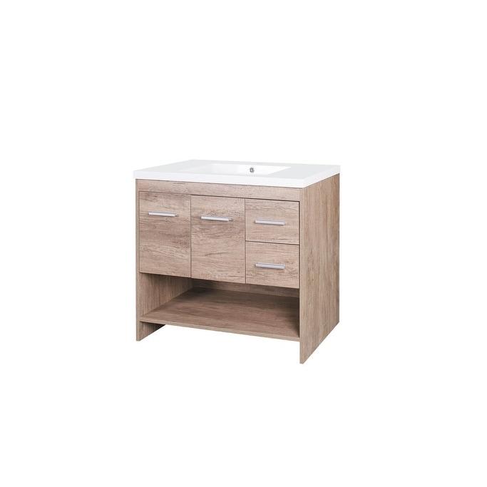 Shop Jano Claudius Series Vanity Cabinet W Resin Sink Free