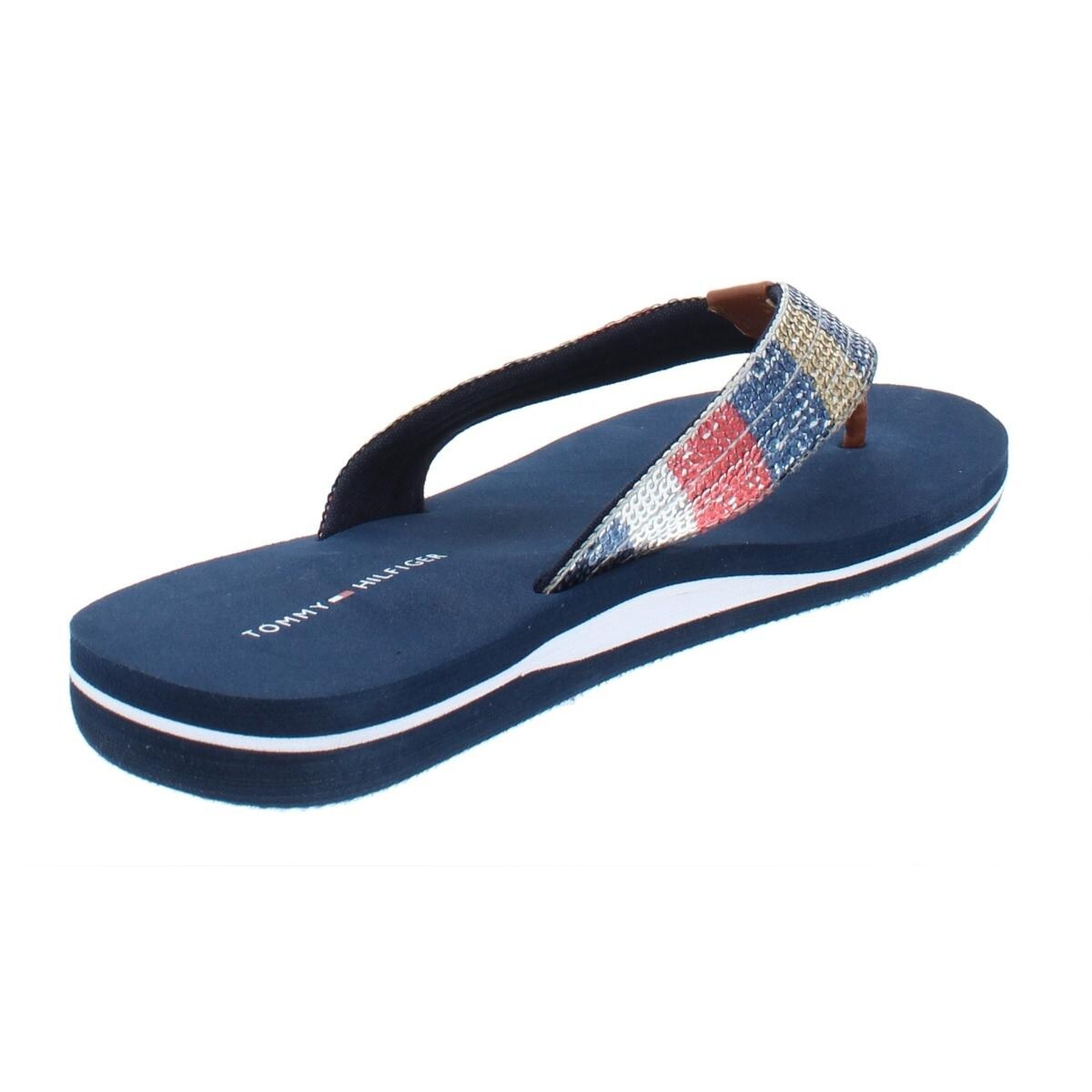 4b3483b4 Shop Tommy Hilfiger Womens Contina Flip-Flops Thong Sequined - On Sale -  Free Shipping On Orders Over $45 - Overstock - 27584943