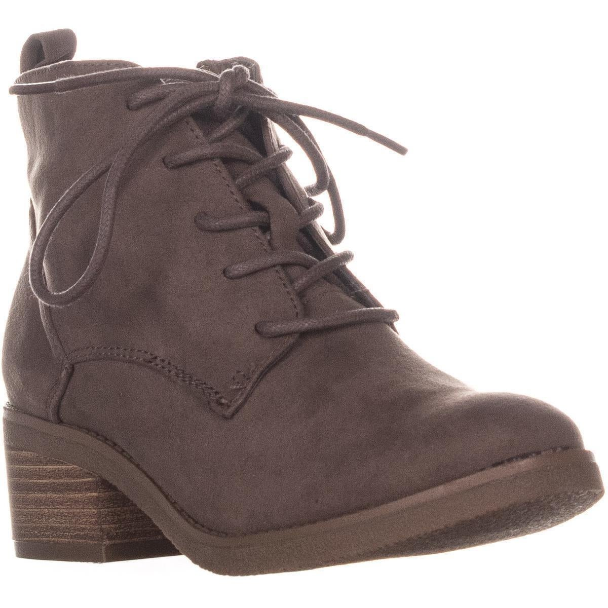 743e1080c5264 Shop SC35 Rizio Block Heel Lace Up Ankle Boots, Taupe - Free ...